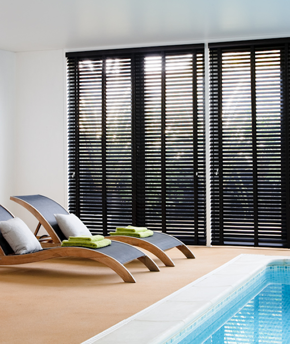 Timber look Venetians